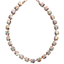 "Mariana Rose Gold Plated Classic Shapes Swarovski Crystal Necklace, 17.5"" Crystal AB 3252 001ABmr"