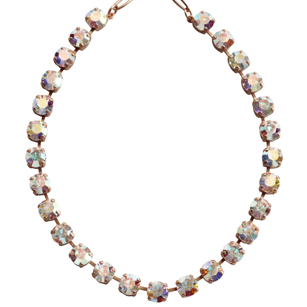 Mariana Rose Gold Plated Classic Shapes Swarovski Crystal Necklace, 17.5