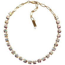 "Mariana Gold Plated Classic Shapes Swarovski Crystal Necklace, 17.5"" Crystal AB 3252 001AByg"