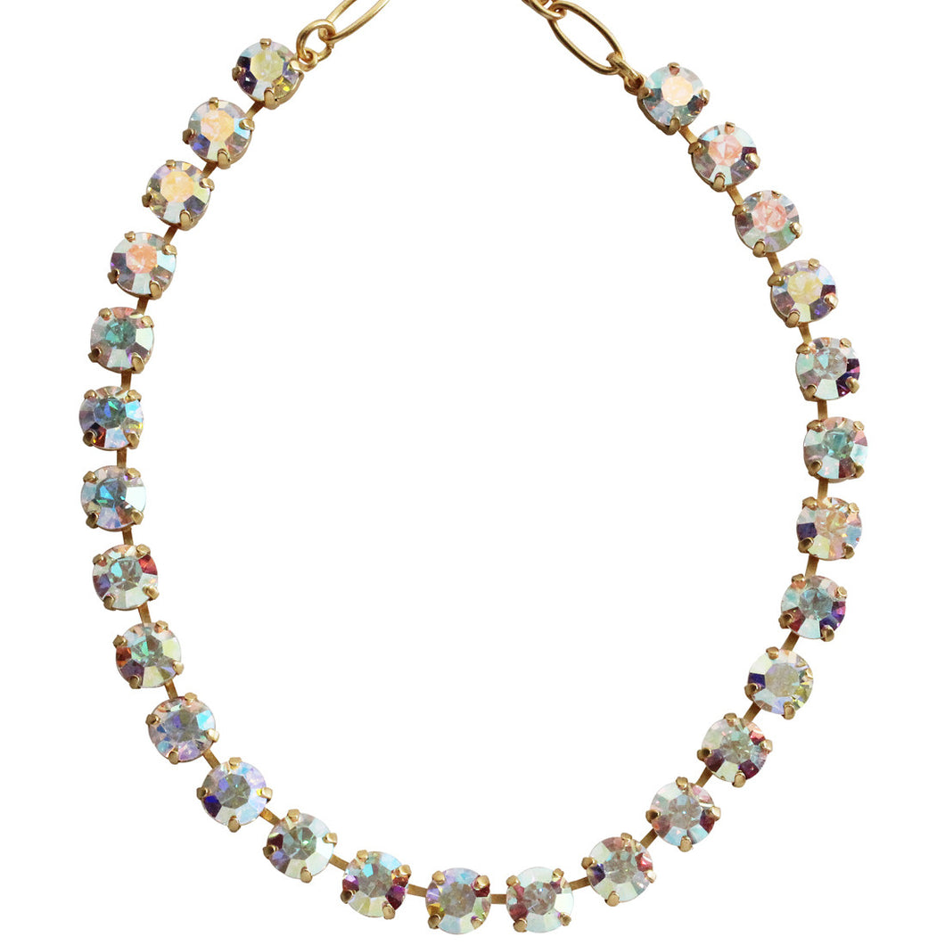 Mariana Gold Plated Classic Shapes Swarovski Crystal Necklace, 17.5