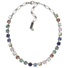"Mariana Silver Plated Classic Shapes Swarovski Crystal Necklace, 17.5"" California Dreaming 3252 M1067"