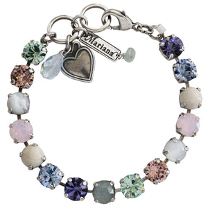 "Mariana Silver Plated Classic Shapes Swarovski Crystal Bracelet, 7"" California Dreaming 4252 M1067"