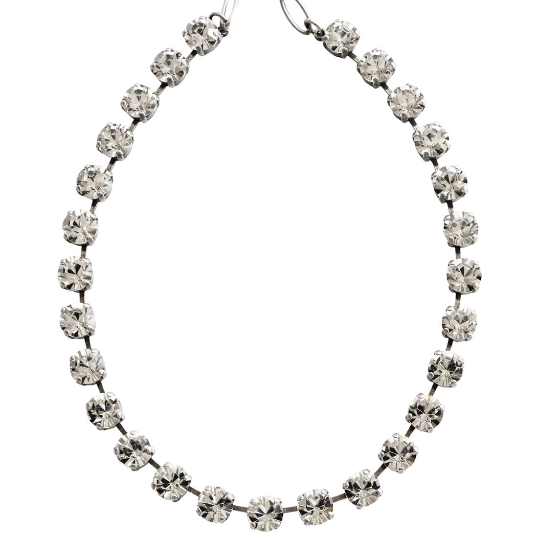"Mariana Silver Plated Classic Shapes Swarovski Crystal Necklace, 18"" On A Clear Day 3252 001"