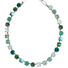 "Mariana ""Congo"" Silver Plated Classic Shapes Swarovski Crystal Necklace, 17.5"" 3252 M1076"