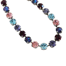 "Mariana ""Cotton Candy"" Silver Plated Classic 8.5mm Swarovski Crystal Tennis Necklace, Sweet Life Purple Multi Color 3252 144"