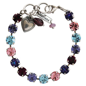 "Mariana ""Cotton Candy"" Silver Plated Classic 8.5mm Swarovski Crystal Tennis Bracelet, 7"" Sweet Life Purple Multi Color 4252 144"