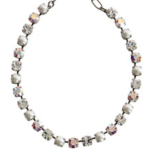 "Mariana Silver Plated Classic Shapes Swarovski Crystal Necklace, 17.5"" Crystal Pearls 3252 M48001"