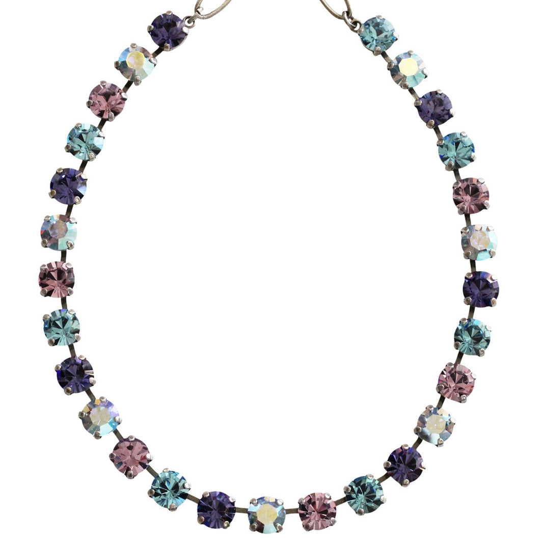 Mariana Silver Plated Classic Shapes Swarovski Crystal Necklace, 13.5