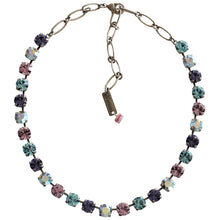 "Mariana Silver Plated Classic Shapes Swarovski Crystal Necklace, 13.5"" + 4"" Extender Purple Aqua 3252 153"