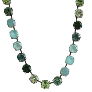 Mariana Fern Silver Plated Classic Shapes Swarovski Crystal Necklace, Green Mix 3252 2143