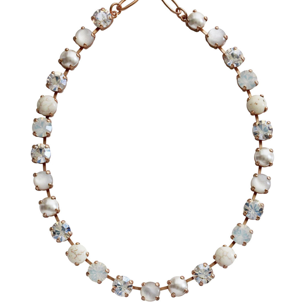 Mariana Rose Gold Plated Classic Shapes Swarovski Crystal Necklace, 13.5