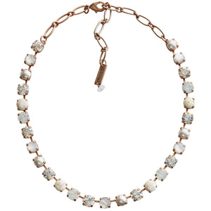 "Mariana Rose Gold Plated Classic Shapes Swarovski Crystal Necklace, 13.5"" + 4"" Extender Forever 3252 M5087mr"