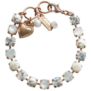"Mariana Rose Gold Plated Classic Shapes Swarovski Crystal Bracelet, 7"" Forever 4252 M5087mr"