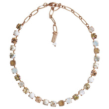 "Mariana ""Kalahari"" Rose Gold Plated Classic Shapes Swarovski Crystal Necklace, 17.5"" 3252 M1078mr"