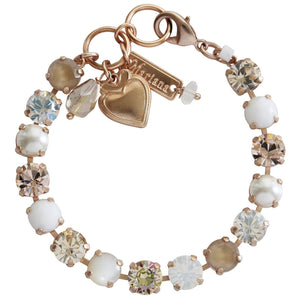 "Mariana ""Kalahari"" Rose Gold Plated Classic Shapes Tennis Swarovski Crystal Bracelet, 7"" 4252 M1078mr"