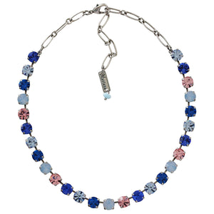 "Mariana ""Kiss from a Rose"" Silver Plated Classic Shapes Swarovski Crystal Necklace, 3252 1068"