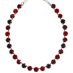 "Mariana ""Lady in Red"" Silver Plated Classic Shapes Swarovski Crystal Necklace, 17.5"" 3252 1070"