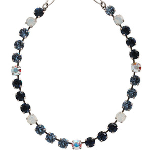 "Mariana Silver Plated Classic Shapes Swarovski Crystal Necklace, 17.5"" Mood Indigo 3252 1069"