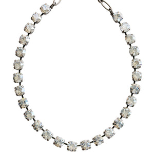 "Mariana Silver Plated Classic Shapes Swarovski Crystal Necklace, 17.5"" Moonlight 3252 001MOL"