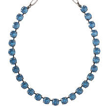 Mariana Silver Plated Classic Tennis 8.5mm Swarovski Crystal Necklace, Ocean Blue Sunkissed 3252 143143
