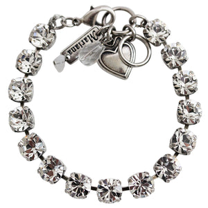 "Mariana ""On A Clear Day"" Silver Plated Classic Shapes Swarovski Crystal Bracelet, 7"" 4252 001001"