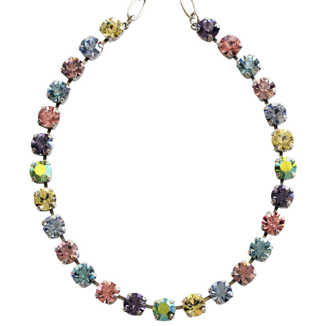 Mariana Silver Plated Classic Shapes Swarovski Crystal Necklace, 17.5