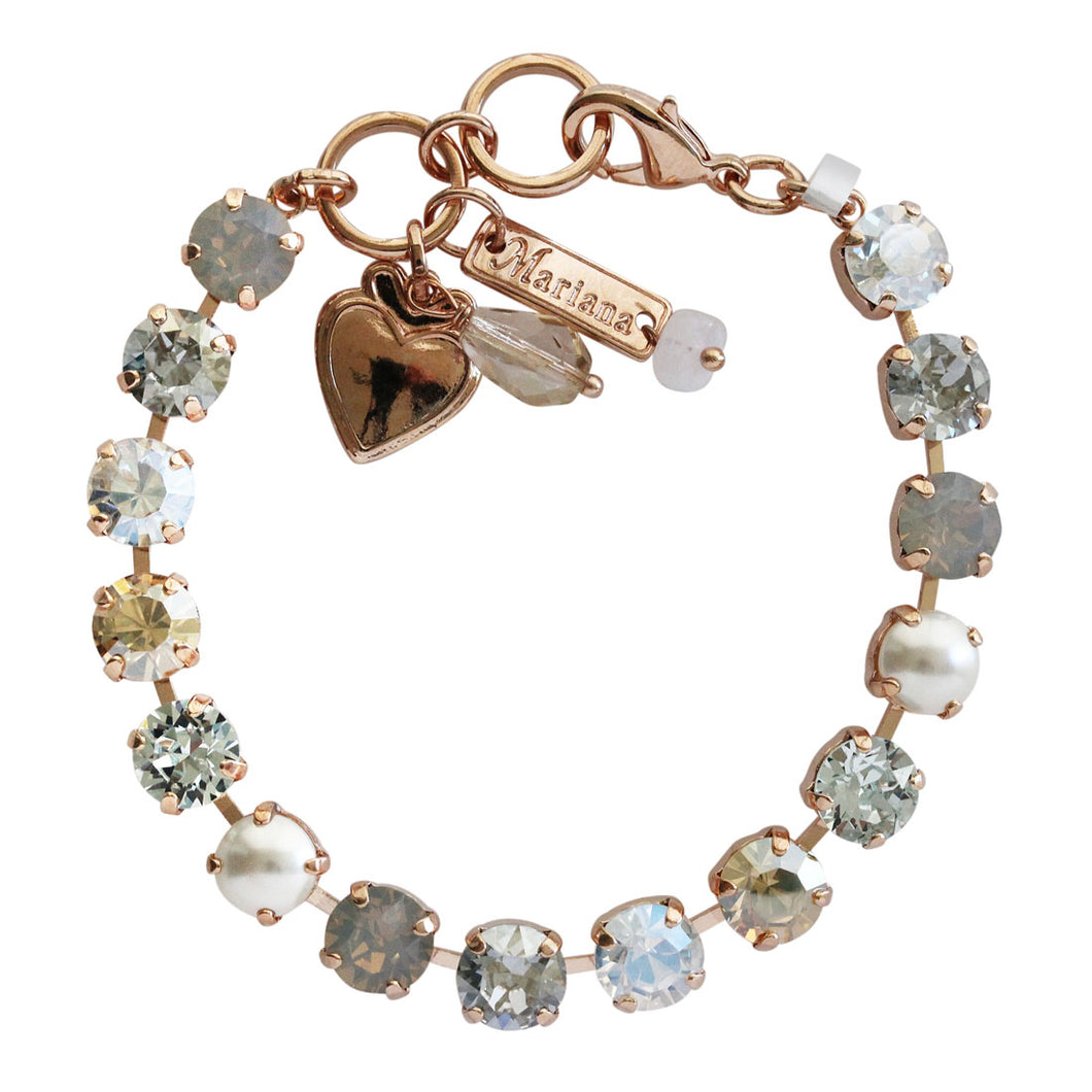 Mariana Rose Gold Plated Classic Shapes Swarovski Crystal Bracelet, Seashell Golden Shadow 4252 39361rg