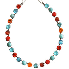 "Mariana ""Serengeti"" Silver Plated Classic Shapes Swarovski Crystal Necklace, 17.5"" 3252 M1079"