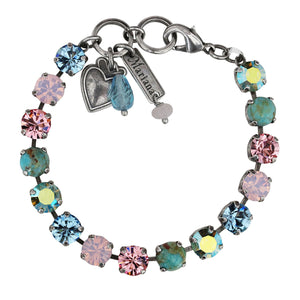 "Mariana ""Summer Fun"" Silver Plated Classic Shapes Swarovski Crystal 8.5mm Tennis Bracelet, 7"" 4252 M75-2"