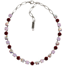 "Mariana Silver Plated Classic Shapes Swarovski Crystal Necklace, 17.5"" True Romance 3252 2300"