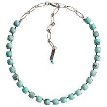 "Mariana Turquoise Silver Plated Classic Shapes Swarovski Crystal Necklace, 17.5"" 3252 M75M75"