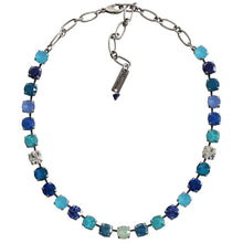 "Mariana Silver Plated Classic Shapes Swarovski Crystal Necklace, 17.5"" Zhang 3252 1041"