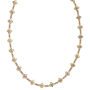 Catherine Popesco 14k Gold Plated Lotus Clover Fancy Long Chain Layering Necklace, 1599RLG