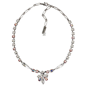 "Mariana ""On A Clear Day"" Silver Plated Rhinestone Cluster Teardrop Swarovski Crystal Necklace, 3030/4 0011AB"