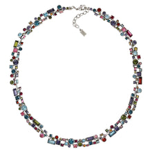 "Patricia Locke ""Confetti"" Sterling Silver Plated Necklace, 17"" + 1"" Extender Fling NK0353S"