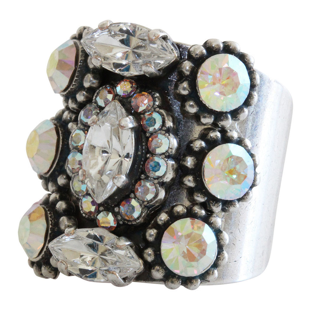 Mariana Silver Plated Marquis Cluster Statement Swarovski Crystal Ring, 8.5 Clear Crystal AB 7503 0011AB