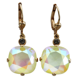 Catherine Popesco 14k Gold Plated Crystal Round Earrings, 6556G Lemonade