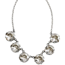 "Catherine Popesco Sterling Silver Plated Crystal Round Necklace, 16"" + 2"" Extender 1257 Shade"