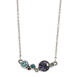 Patricia Locke Curtain Call Sterling Silver Plated Swarovski Pendant Necklace, NK0539S Waterlily