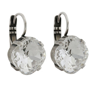 "Mariana ""On A Clear Day"" Silver Plated Classic Drop Cushion Swarovski Crystal Earrings, 1326/3 001"