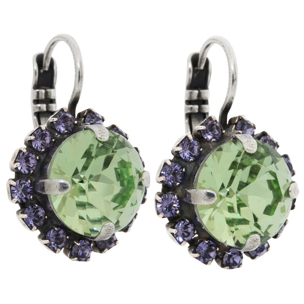 Mariana Silver Plated Cushion Crystal Border Swarovski Earrings, California Dreaming 1137/1 1067
