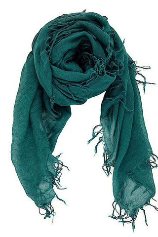 Chan Luu Cashmere and Silk Scarf Wrap - Deep Teal BRH-SC-140