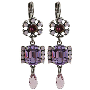 Mariana Silver Plated Shapes Swarovski Crystal Earrings, Elizabeth 1510/2 1022