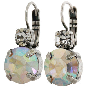 Mariana Silver Plated Double Drop Medium Crystal Earrings, Crystal AB 1037 001AB