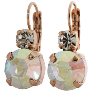 "Mariana ""On A Clear Day"" Rose Gold Plated Double Drop Medium Crystal Earrings, 1037 001ABrg"