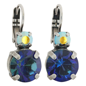 "Mariana ""Penelope"" Silver Plated Double Drop Medium Swarovski Crystal Earrings, 1037 1089"