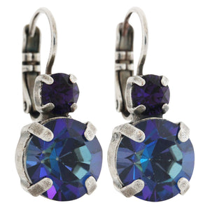 "Mariana ""Happy Hour"" Silver Plated Double Drop Medium Crystal Earrings, 1037 3101"