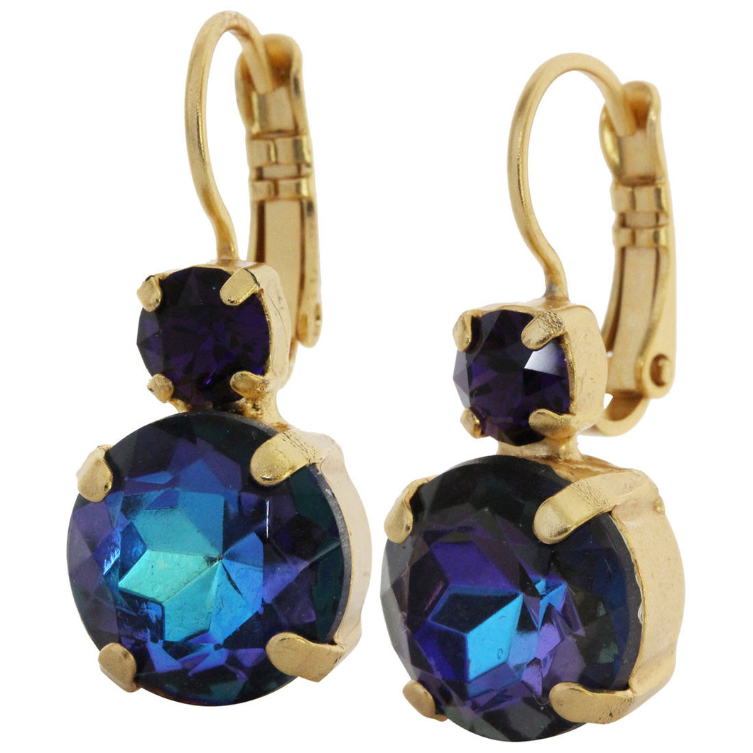 Mariana Gold Plated Double Drop Medium Crystal Earrings, Happy Hour 1037 3101yg