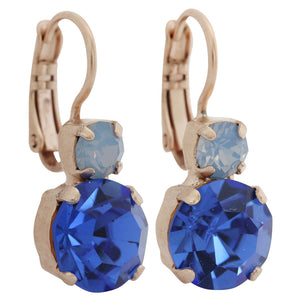 "Mariana ""Kiss from a Rose"" Rose Gold Plated Double Drop Medium Swarovski Crystal Earrings, 1062 1068mr"