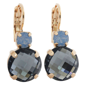 "Mariana ""Rhapsode"" Rose Gold Plated Double Drop Medium Crystal Earrings, 1037A 1092rg"